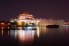 The Ziyunlou building night xian Stock Images