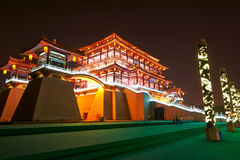 The Ziyunlou building night xian Royalty Free Stock Image