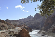 Ziz Tal in den Atlasbergen, Marokko Stockbilder
