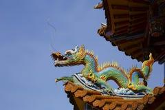 Zizhu寺庙或紫色竹寺庙高雄台湾, ROC 图库摄影