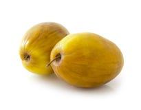 Ziziphus mauritiana fruit (Masau). Ziziphus mauritiana also called Indian Ber, Chinee Apple, Jujube, Indian plum and Masau isolated on white background stock photography