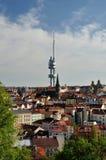 Zizkov district view with tv tower in Prague, Czech Republic Stock Photos