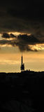 Zizkov signal tower in Prague Royalty Free Stock Images