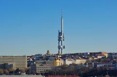 Landmark attraction in Prague: Zizkov Television Tower - Czech Republic Stock Photos