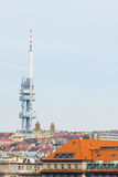 Zizkov television tower in Prague, Czech Republic Stock Photos