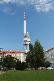 Zizkov television tower in Prague Royalty Free Stock Photo