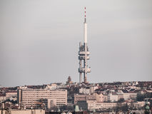 Zizkov television tower in Prague Stock Photography