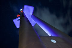Zizkov tower in the night Stock Photos