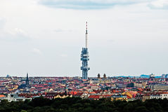 Zizkov TV transmitter in Prague Royalty Free Stock Photo