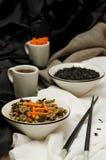 Zizzania con le carote e le verdure Fotografia Stock Libera da Diritti