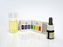 Zjadliwy acidic wodnego testa ph odczynnik Obrazy Royalty Free
