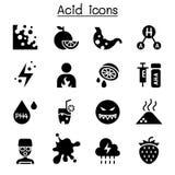 Zjadliwy ikona set ilustracja wektor