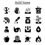Zjadliwy ikona set royalty ilustracja