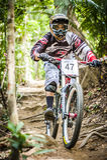 Zjazdowi rowerów sporty Obrazy Royalty Free