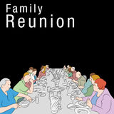 Zjazdu Rodzinnego posiłek ilustracji