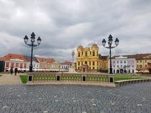Zjednoczenie kwadrat w Timisoara, Rumunia Zdjęcie Stock