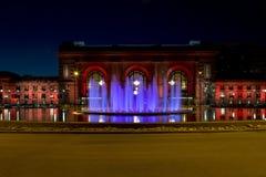Zjednoczenie nocy widoku Kansas Missouri Stacyjny usa obraz royalty free