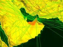 Zjednoczone Emiraty Arabskie na cyfrowej mapie ilustracji
