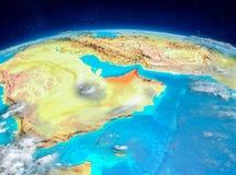 Zjednoczone Emiraty Arabskie na ziemi Zdjęcia Stock
