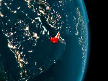 Zjednoczone Emiraty Arabskie przy nocą Zdjęcia Royalty Free