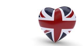 Zjednoczone Królestwo łączy pojęcie miłości tło, 3d rendering Fotografia Stock