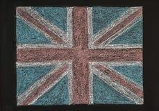 Zjednoczone Królestwo (Brytyjska Zrzeszeniowa dźwigarka) flaga obraz royalty free