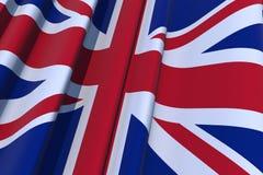 Zjednoczone Królestwo 3D flaga Zdjęcia Stock