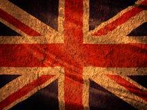 Zjednoczone Królestwo flaga na starym ściana z cegieł Obraz Royalty Free