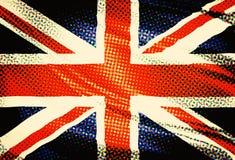 Zjednoczone Królestwo flaga popart Obrazy Stock