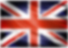 Zjednoczone Królestwo flaga zamazująca Zdjęcie Royalty Free