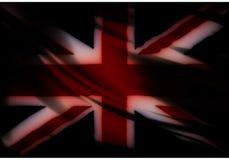 Zjednoczone Królestwo flaga zmrok Fotografia Stock