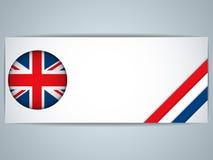 Zjednoczone Królestwo kraj Ustawiający sztandary ilustracji