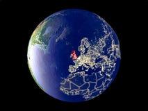 Zjednoczone Królestwo na ziemi od przestrzeni obrazy royalty free