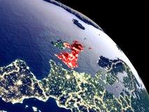Zjednoczone Królestwo od przestrzeni royalty ilustracja