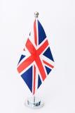 Zjednoczone Królestwo stołu flaga Obraz Royalty Free
