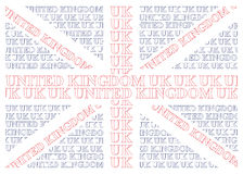 Zjednoczone Królestwo teksta flaga Obrazy Stock