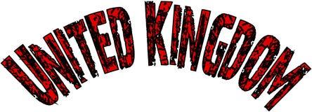 Zjednoczone Królestwo teksta znaka ilustracja ilustracja wektor