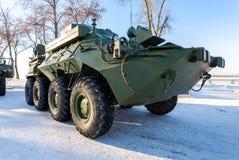 Zjednoczony personelu pojazd R-149MA1 opierający się rosyjski wojsko obraz stock