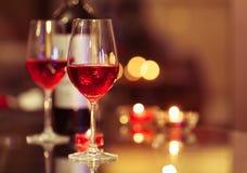 zjedz obiad wino Fotografia Stock