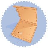 zjedzona pizza royalty ilustracja