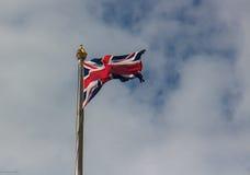 Zlana królestwo flaga Zdjęcia Royalty Free