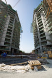Zlani arabscy emiraty, Dubaj, 06/07/2015, namiestnika rozwoju Hotelowy plac budowy na palmie, Dubaj Obrazy Royalty Free