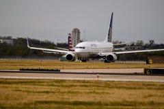 Zlany Boeing na taxi sposobie zdjęcia royalty free