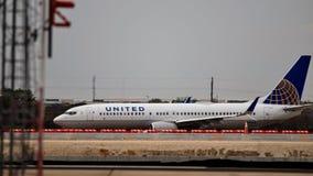 Zlany Boeing na taxi sposobie obrazy royalty free