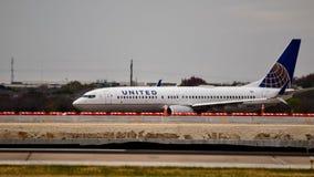 Zlany Boeing na taxi sposobie zdjęcie royalty free