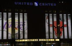 Zlany centrum w Chicago, Illinois obrazy royalty free