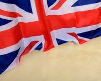 Zlany Kingdon Union Jack sztandaru UK Chorągwiany szablon zdjęcie royalty free