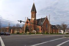 Zlany kościół Chrystus, Congregational Obraz Royalty Free