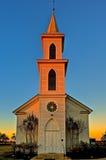 Zlany kościół metodystów Freyburg Teksas Obrazy Stock