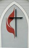 Zlany kościół metodystów logo Obraz Stock
